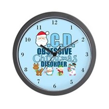 Obsessive Christmas Disorder Wall Clock