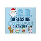 Obsessive christmas disorder Blankets