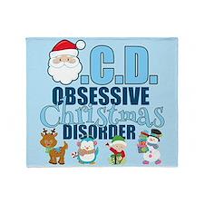 Obsessive Christmas Disorder Throw Blanket