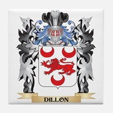 Dillon Coat of Arms - Family Crest Tile Coaster