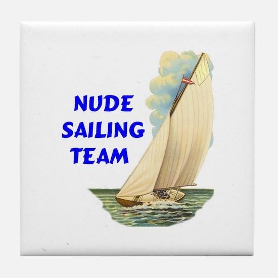 NUDE SAILING Tile Coaster