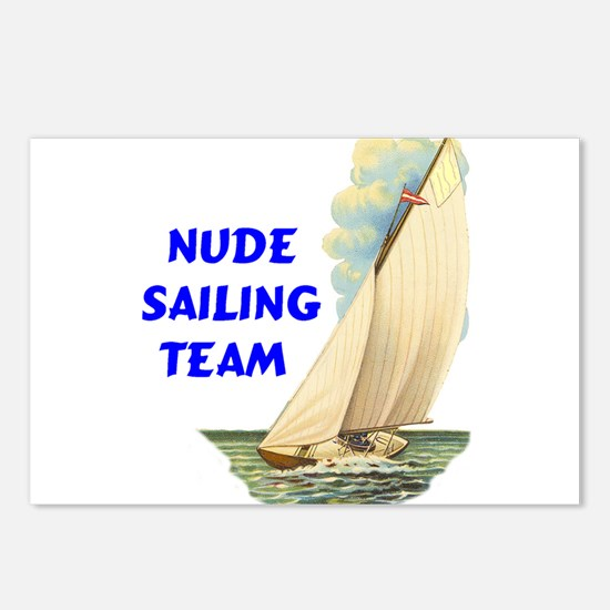 NUDE SAILING Postcards (Package of 8)