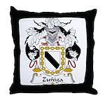 Zuniga Family Crest Throw Pillow