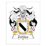 Zuniga Family Crest Small Poster