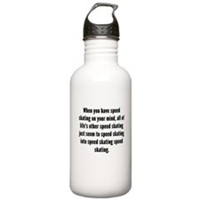 Speed Skating On Your Mind Water Bottle