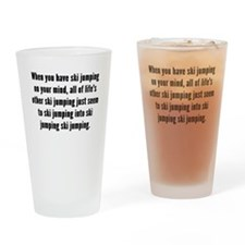Ski Jumping On Your Mind Drinking Glass