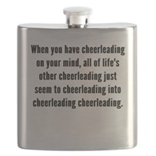 Cheerleading On Your Mind Flask