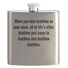 Biathlon On Your Mind Flask