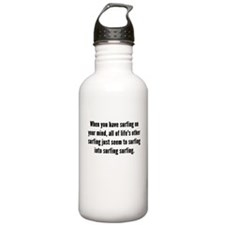 Surfing On Your Mind Water Bottle