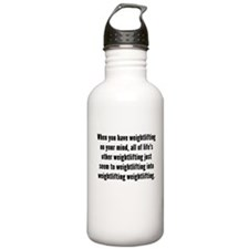 Weightlifting On Your Mind Water Bottle