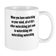Waterskiing On Your Mind Mugs