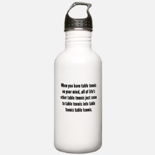 Table Tennis On Your Mind Water Bottle