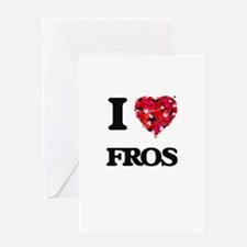 I love Fros Greeting Cards