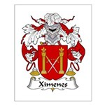 Ximenes Family Crest Small Poster