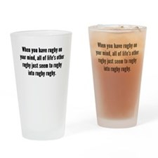 Rugby On Your Mind Drinking Glass