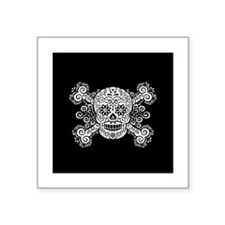 "Antique Sugar Pirate Square Sticker 3"" x 3"""