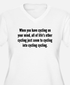 Cycling On Your Mind Plus Size T-Shirt