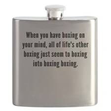 Boxing On Your Mind Flask