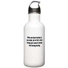 Boxing On Your Mind Water Bottle