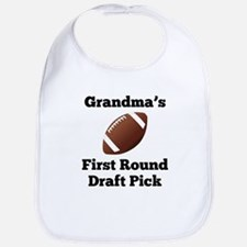Grandmas First Round Draft Pick Bib