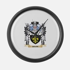 Dixon Coat of Arms - Family Crest Large Wall Clock
