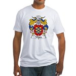 Vilaca Family Crest  Fitted T-Shirt