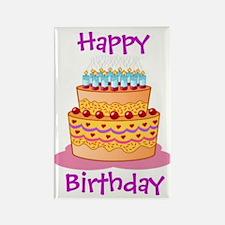Happy Birthday Big Cake Magnets