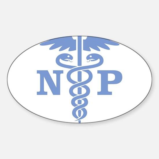 Unique Nurse symbol Sticker (Oval)