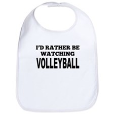 Id Rather Be Watching Volleyball Bib