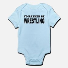 Id Rather Be Wrestling Body Suit
