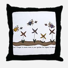 Angel Garden Throw Pillow