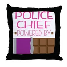 Police Chief Throw Pillow