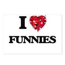 I love Funnies Postcards (Package of 8)