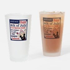 Aunty Acid: Star Spangled Hammered Drinking Glass