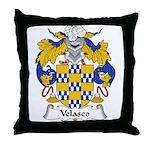 Velasco Family Crest Throw Pillow