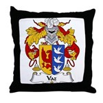 Vaz Family Crest Throw Pillow
