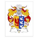 Vaz Family Crest Small Poster