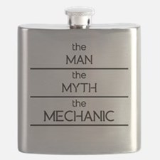 The Man The Myth The Mechanic Flask