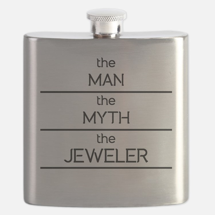 The Man The Myth The Jeweler Flask