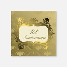 Fancy 1st Wedding Anniversary Sticker