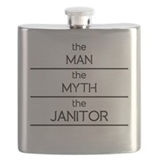 The Man The Myth The Janitor Flask