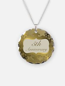 Fancy 5th Wedding Anniversar Necklace