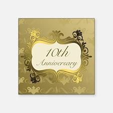 Fancy 10th Wedding Anniversary Sticker