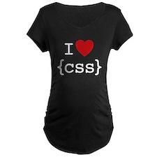 I Heart CSS Maternity T-Shirt