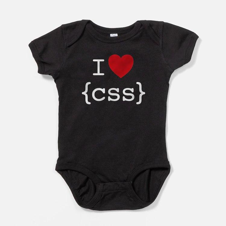 I Heart CSS Baby Bodysuit