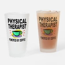 Physical Therapist Powered By Coffee Drinking Glas