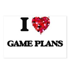 I love Game Plans Postcards (Package of 8)