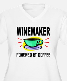 Winemaker Powered By Coffee Plus Size T-Shirt