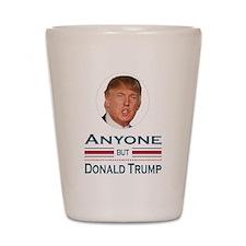Anyone But Trump Shot Glass
