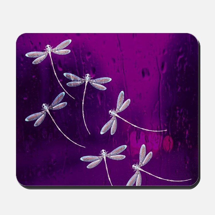 Dragonflies on water Mousepad